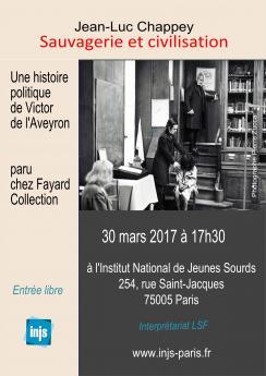 Affiche de la présentation du dernier livre de Jean-Luc Chappey