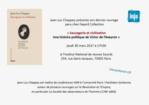 Carton invitation de la présentation du livre de Jean-Luc Chappey