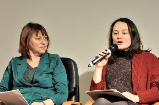 Rachel Marin et Sandrine Belaubre, de l'INJS.