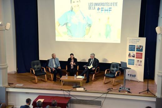 Agnès Buzyn, Ministre de la Santé, aux Universités d'été de la FHF.