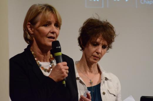 Françoise Laroche et Maryvonne Zimmermann