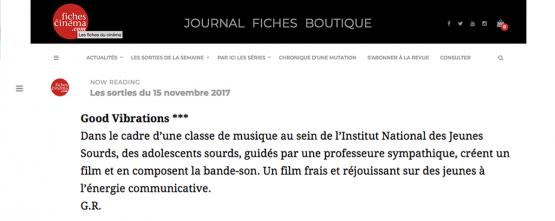 Article du site Fichesducinéma.com